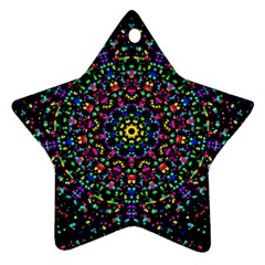 Fractal Texture Star Ornament (Two Sides)