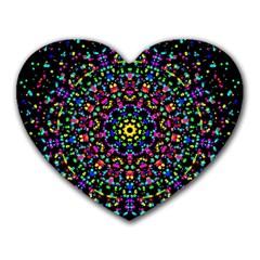 Fractal Texture Heart Mousepads