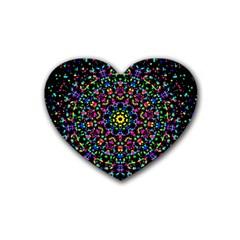 Fractal Texture Rubber Coaster (Heart)
