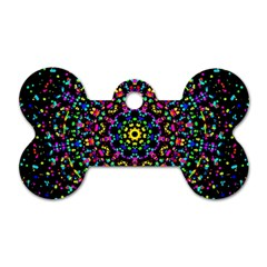 Fractal Texture Dog Tag Bone (One Side)