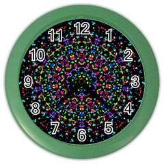 Fractal Texture Color Wall Clocks