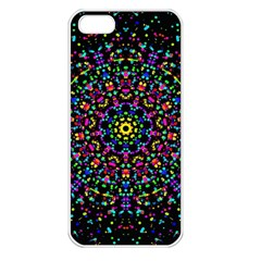 Fractal Texture Apple iPhone 5 Seamless Case (White)