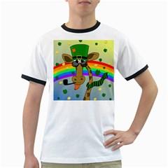 Irish giraffe Ringer T-Shirts
