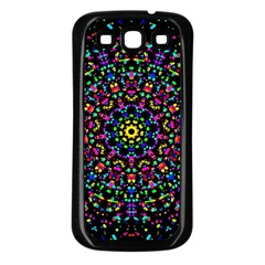 Fractal Texture Samsung Galaxy S3 Back Case (black)