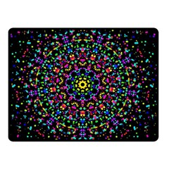 Fractal Texture Double Sided Fleece Blanket (small)