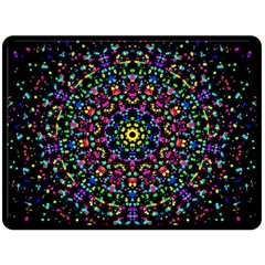 Fractal Texture Double Sided Fleece Blanket (large)
