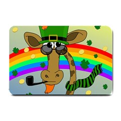 Irish giraffe Small Doormat