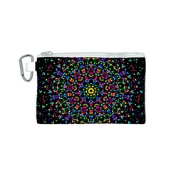 Fractal Texture Canvas Cosmetic Bag (S)