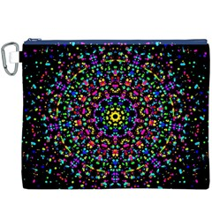 Fractal Texture Canvas Cosmetic Bag (XXXL)