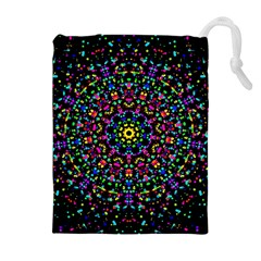 Fractal Texture Drawstring Pouches (Extra Large)