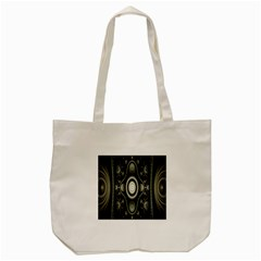 Fractal Beige Blue Abstract Tote Bag (Cream)