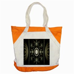 Fractal Beige Blue Abstract Accent Tote Bag