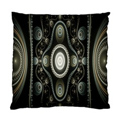 Fractal Beige Blue Abstract Standard Cushion Case (One Side)