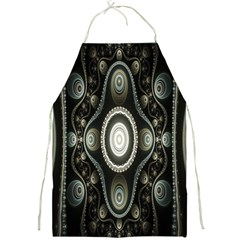 Fractal Beige Blue Abstract Full Print Aprons