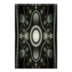 Fractal Beige Blue Abstract Shower Curtain 48  x 72  (Small)