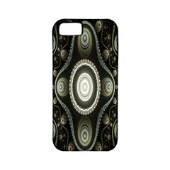 Fractal Beige Blue Abstract Apple Iphone 5 Classic Hardshell Case (pc+silicone)