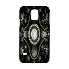 Fractal Beige Blue Abstract Samsung Galaxy S5 Hardshell Case