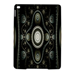 Fractal Beige Blue Abstract Ipad Air 2 Hardshell Cases