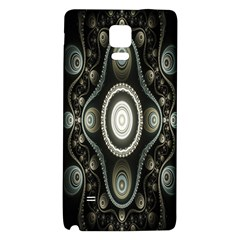 Fractal Beige Blue Abstract Galaxy Note 4 Back Case