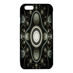 Fractal Beige Blue Abstract iPhone 6/6S TPU Case