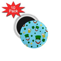 St. Patrick s day pattern 1.75  Magnets (10 pack)