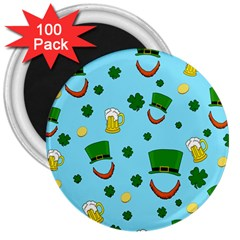 St. Patrick s day pattern 3  Magnets (100 pack)