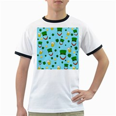 St. Patrick s day pattern Ringer T-Shirts