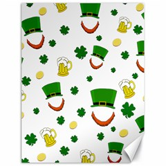 St  Patrick s Day Pattern Canvas 18  X 24
