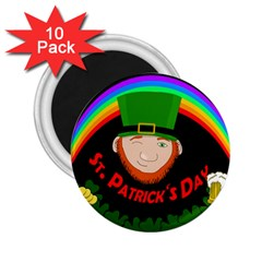 St. Patrick s day 2.25  Magnets (10 pack)