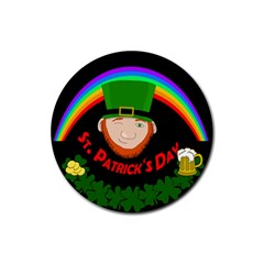 St. Patrick s day Rubber Coaster (Round)