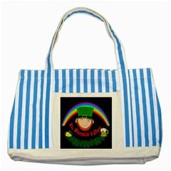 St. Patrick s day Striped Blue Tote Bag