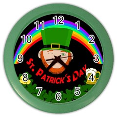 St. Patrick s day Color Wall Clocks