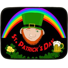 St. Patrick s day Double Sided Fleece Blanket (Mini)