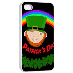 St  Patrick s Day Apple Iphone 4/4s Seamless Case (white)