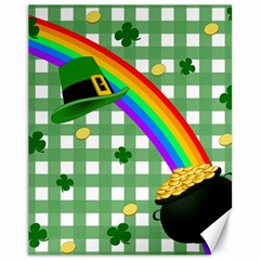 St. Patrick s day rainbow Canvas 11  x 14