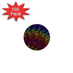 Fractal Art Design Colorful 1  Mini Magnets (100 Pack)