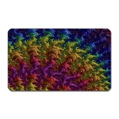Fractal Art Design Colorful Magnet (Rectangular)