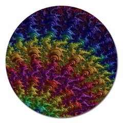 Fractal Art Design Colorful Magnet 5  (Round)