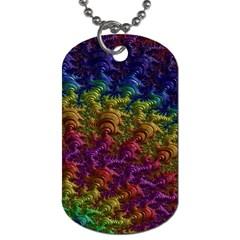 Fractal Art Design Colorful Dog Tag (One Side)