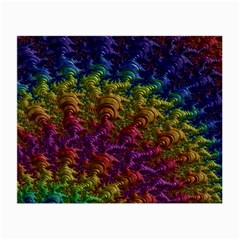 Fractal Art Design Colorful Small Glasses Cloth