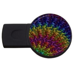 Fractal Art Design Colorful USB Flash Drive Round (4 GB)