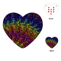 Fractal Art Design Colorful Playing Cards (Heart)