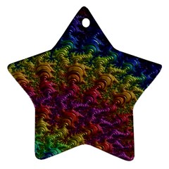 Fractal Art Design Colorful Star Ornament (Two Sides)