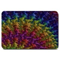 Fractal Art Design Colorful Large Doormat