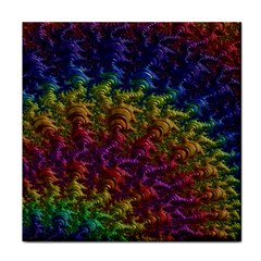 Fractal Art Design Colorful Face Towel