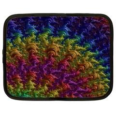Fractal Art Design Colorful Netbook Case (XL)