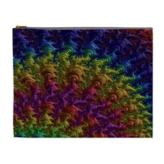 Fractal Art Design Colorful Cosmetic Bag (XL)
