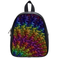 Fractal Art Design Colorful School Bags (Small)