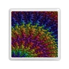 Fractal Art Design Colorful Memory Card Reader (Square)