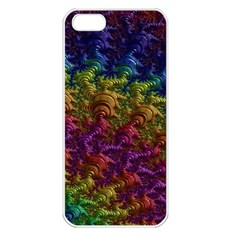 Fractal Art Design Colorful Apple Iphone 5 Seamless Case (white)